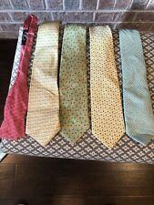 Lot of 5 Vineyard Vines Patterned Silk Ties / Bow Ties Man 4 Ties 1 Bow Tie