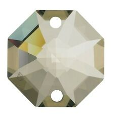 10 Pz Ottagono da mm.14 Cristallo Swarovski Golden Teak 2 Fori Ricambio Strass