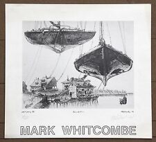 Mark Whitcombe Embarkation Original Print Signed in Pencil Poster 61 of 300 1979