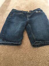 Apple Bottom's Girl's Blue Denim Jean Shorts Sz 14 Clothes