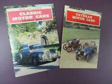 Veteran Motor Cars & Classic Motor Cars 2 Shire Album Books 112 & 151 Excellent!