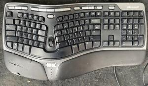 Microsoft Natural Ergonomic Keyboard 4000 v1.0 KU-0462 Tested Working Korean