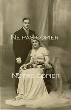 Photo Mariage Jean et Alice Molland vers 1930 Alice Coirier