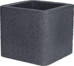 Cube Planter Grey Planter Plant Pot Square.  Double Walled. Stone Effect