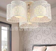 Deckenleuchte Deckenlampe Außenschirm Metall Innenschirm Glas Weiß Ø50xH22cm
