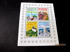 SWITZERLAND 1987 TOURISM SOUVENIR SHEET OF 4 VERY FINE MINT NEVER HINGED