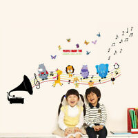 Removable Animals DIY Music Air Wall Sticker for Kids Baby Room Nursery Decor US
