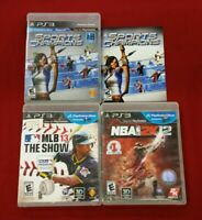 Playstation 3 PS3 Move Compatible Lot SPORTS CHAMPIONS MLB 13 THE SHOW NBA 2K12