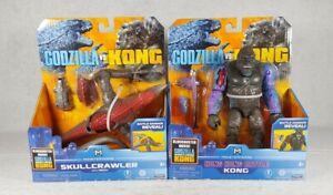 Godzilla Vs Kong Skullcrawler & Hong Kong Battle Kong Lot Of 2 HTF Figures Set