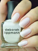 NIB! Deborah Lippmann nail polish lacquer in LIKE A VIRGIN ~ full size White
