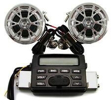 Motorcycle Audio FM Radio MP3 iPod Stereo Speakers Sound System Bike UTV ATV