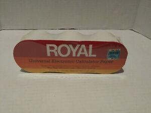 Royal Universal Electronic Calculator Paper Thre Pack 57mm x 70mm NEW Sealed