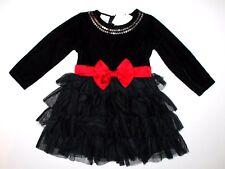 Kleid schwarz 98-104 elegant festlich USA Tutu FAQ schwarz Weihnachten Mädchen