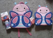 Skip Hop Blossom Butterfly 3pc Set- Bottle, Backpack & Zoo Lunchie Insulated Bag