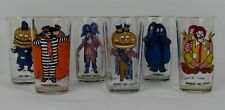 Set of 6 Collectibles Glasses Mc Donalds