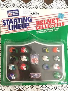 Starting Lineup Sports Super Star NFL Teams Helmets By Kenner-AFC 1989...