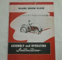 Ford Tractor Dearborn Front Mounted Blade Snow Plow 8n 2n 9n Owner's Manual