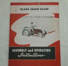 Ford Tractor Dearborn Front Mounted Blade Snow Plow 8n 2n 9n Owners Manual