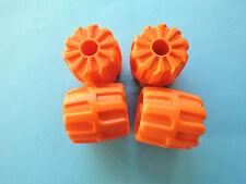 Lego 4 x Rad Hartplastik 6118 orange klein 22 mm  D.x 24 mm 7393 7699 7648
