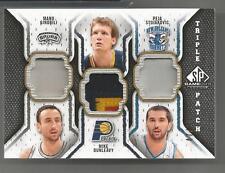 2009-10 SP Game Used Basketball Ginobli-Dunleavy-Stojakovic Triple Patch # 47/60