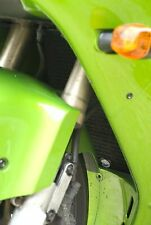 Kawasaki ZX12R 2002-2006 R&G Racing Radiator Guard RAD0137BK BLACK