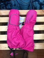 Winter Kids Girls 3M Thinsulate Snow Mittens Waterproof Warm Pinkk Ski Gloves