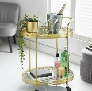 Deco Glamour Drinks Trolley Mini Bar Gold Cocktail Bar