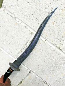 Very Sharp Ottoman Yatagan Yataghan Sword with bull horne handle N Shamshir