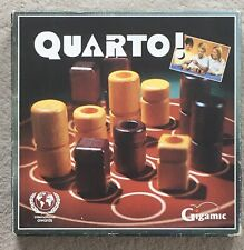 Quarto Strategy Board Game Wood Pieces Gigamic 1991 Complete