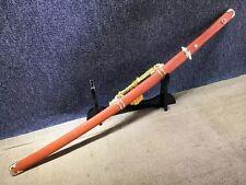 Hand Forged Japanese 9260 Spring Steel Aka Redwood Mokuzi Katana Tachi Sword
