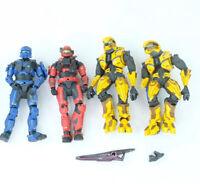 Lot Of 4 McFarlane Halo Blue Spartan Arbiter Figure Reach 4