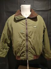 Vintage USA Remington Outdoor Clothing Mens M Green Jacket full zip coat 🦌🐿️🐿