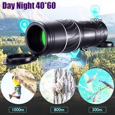 Day Night 40*60 Zoom Hunting Monocular Bak-4 Hd Hunting Hiking Camping Telescope