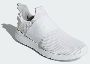 ADIDAS Men's 'Lite Racer Adapt' Running Sneakers White 9 Slip-On NO LACES *NIB*