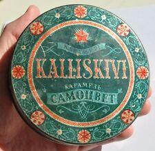1950s USSR Soviet Russia Estonia THE EMERALD GEM Monpasier Sweets Empty Tin Box