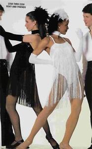 Jazz flapper dance Costume Artstone Tap  Black White  Roxy and Friends