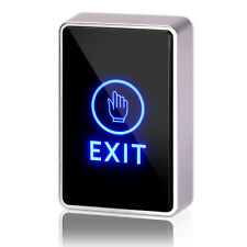 Door Touch Exit Button Push Home Release Switch Panel Access Control Led Light