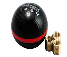 Carbon Fiber Mugen 6 Speed Gear Shift Knob Honda Civic DC5 EP3 Type R S2000 Red