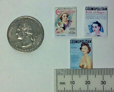 Dollhouse Miniature Vintage Magazines Books Cosmo 1:12 inch scale Dollys Gallery