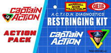 Licensed Vintage Ideal Captain Action & Dr. Evil Action Figure Re-String Kit
