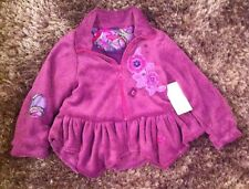 DESIGNER LITTLE DARLINGS FASHION PURPLE RAIN FLEECE COAT 6Y RRP:£59.99 BNWT