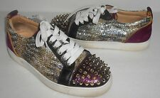 Christian Louboutin Louis Junior Spikes Sneakers Sz 38