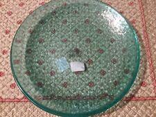"""Pottery Barn 11"""" Acrylic Dinner Plates Teal """"Fresca"""" Set Of 4 NWT"""