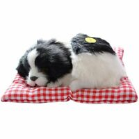 Lovely Simulation Animal Doll Plush Sleeping Dog with Sound Doll Decorations Toy