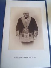 Rare Fifty Years A Freemason W Bro. James Oldroyd, Ppgp Scarborough Connection