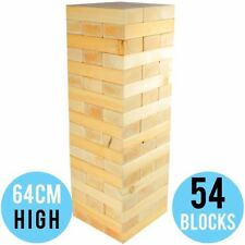 NEW Giant/Jumbo/Huge Sized Jenga Wooden Blocks Outdoor Board Yard Garden Game