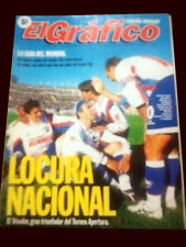 NACIONAL de MONTEVIDEO CHAMPION - El Grafico magazine 1990's Uruguay