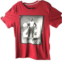 Nike Air Jordan Dri Fit Jumpman #23 88' Photo Red T Shirt Mens Size M.