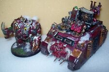 Warhammer 40k Chaos Space Marines Helbrute Dreadnought and Rhino