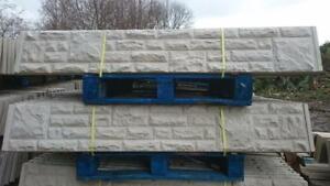 Reinforced Concrete Gravel Boards 6ftWx1ftH